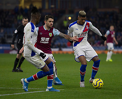 Patrick van Aanholt of Crystal Palace (R)_ in action - Mandatory by-line: Jack Phillips/JMP - 30/11/2019 - FOOTBALL - Turf Moor - Burnley, England - Burnley v Crystal Palace - English Premier League