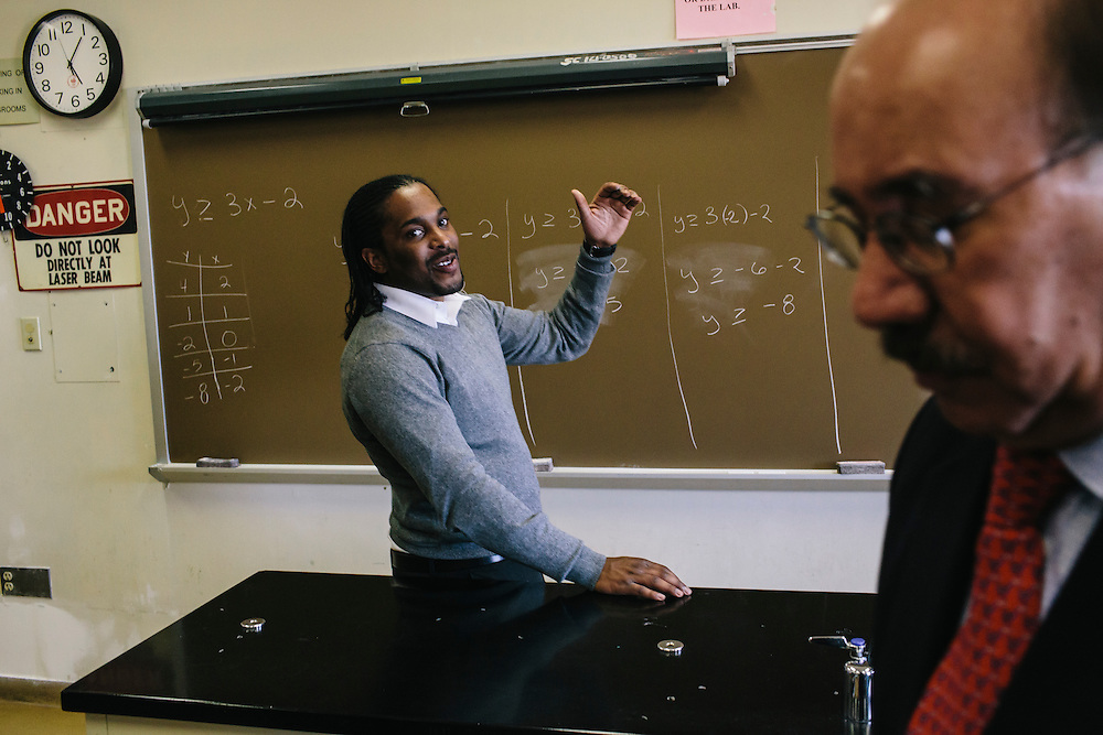 Dr. Daryao Khatri, a physics and computer science professor at University of Washington DC, assists former student Marc Davis with Davis' preparation to teach his high school class. Dr. Khatri mentored Davis and has become a father figure to him. Now, the two spend a little time together every day working through physics problems or simply catching up with each other.