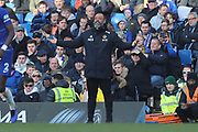 Wolverhampton Wanderers manager Nuno Espirito Santo during the Premier League match between Chelsea and Wolverhampton Wanderers at Stamford Bridge, London, England on 10 March 2019.