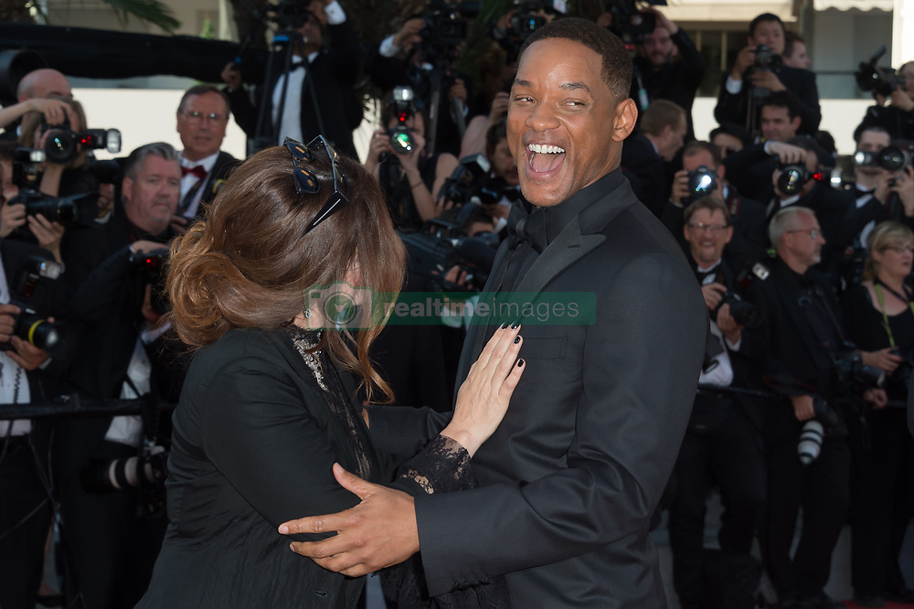 Jury members Will Smith and Agnes Jaoui attending the Closing Ceremony during the 70th annual Cannes Film Festival held at the Palais Des Festivals in Cannes, France on May 28, 2017 as part of the 70th Cannes Film Festival. Photo by Nicolas Genin/ABACAPRESS.COM