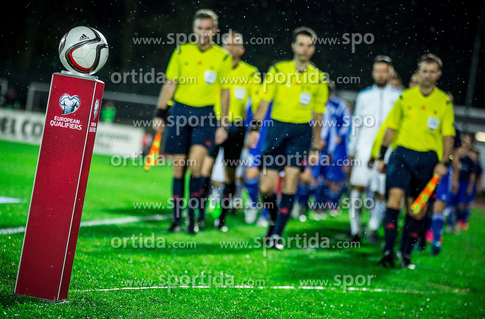 Ball prior to the football match between National teams of San Marino and Slovenia in Group E of EURO 2016 Qualifications, on October 12, 2015 in Stadio Olimpico Serravalle, Republic of San Marino. Photo by Vid Ponikvar / Sportida