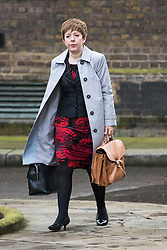 Downing Street, London, April 12th 2016. Leader of the House of Lords, Baroness Tina Stowell arrives at the weekly cabinet meeting. &copy;Paul Davey<br /> FOR LICENCING CONTACT: Paul Davey +44 (0) 7966 016 296 paul@pauldaveycreative.co.uk