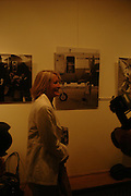 Sandra Howard in front of photo of herself by Robin. The Sixties  Set, an exhibition of photos by Robin Douglas-Home. the Air Gallery, Dover St. London. 28 June 2005. ONE TIME USE ONLY - DO NOT ARCHIVE  © Copyright Photograph by Dafydd Jones 66 Stockwell Park Rd. London SW9 0DA Tel 020 7733 0108 www.dafjones.com