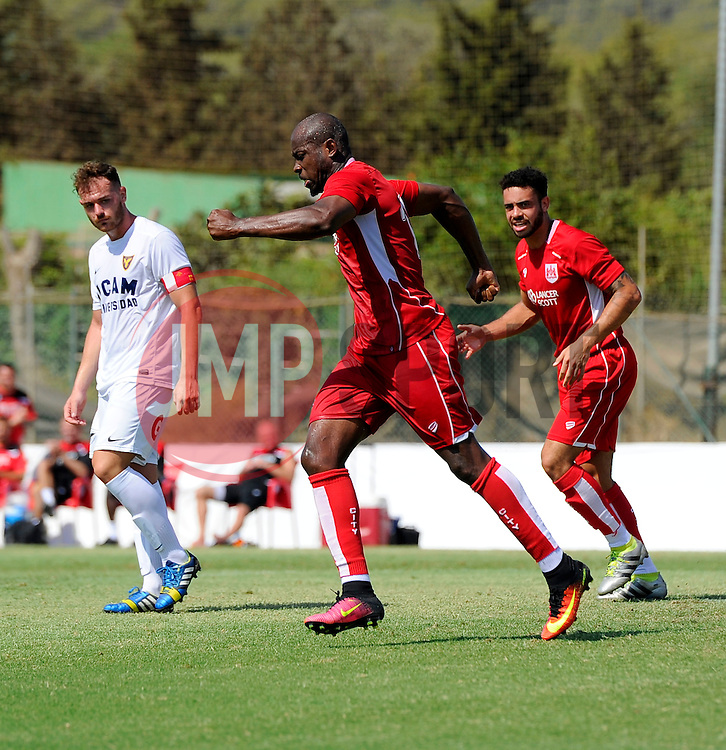 Arnold Garita of Bristol City celebrates  - Mandatory by-line: Joe Meredith/JMP - 22/07/2016 - FOOTBALL - La Manga Training Ground - La Manga, Murcia - UCAM v Bristol City - Pre-season friendly