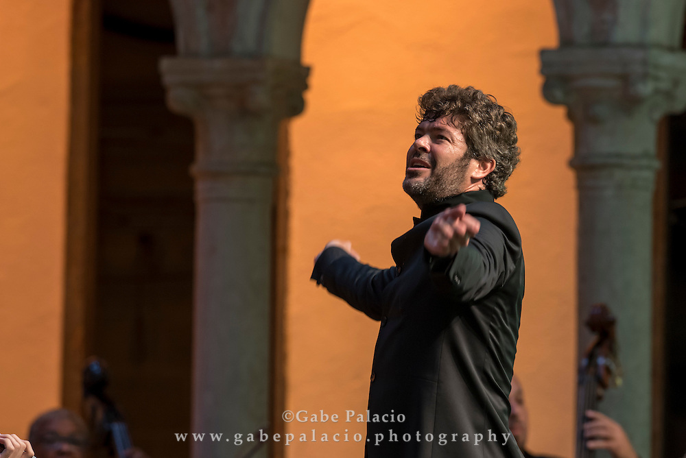 Summer Season Finale with Pablo Heras-Casado, conductor, and the Orchestra of St. Luke's in the Venetian Theater at Caramoor in Katonah New York on August 7, 2016. <br /> (photo by Gabe Palacio)