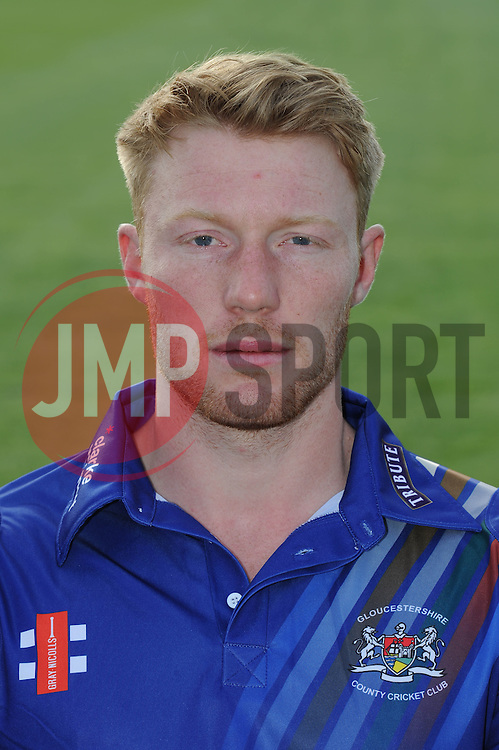 Gloucestershire player, Liam Norwell - Photo mandatory by-line: Dougie Allward/JMP - 07966 386802 - 10/04/2015 - SPORT - CRICKET - Bristol, England - Bristol County Ground - Gloucestershire County Cricket Club Photocall.