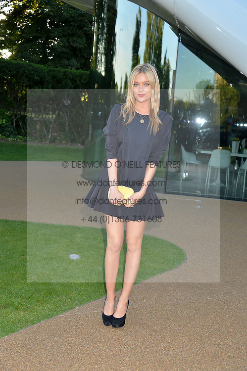 LAURA WHITMORE at a summer drinks party hosted by Bec Astley Clarke at the Serpentine Sackler Gallery, Hyde Park, London on 17th June 2014.