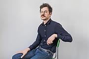 Paris, May 16 2019 - Portrait of graphic designer Ghislain Triboulet, partner at deValence studio.