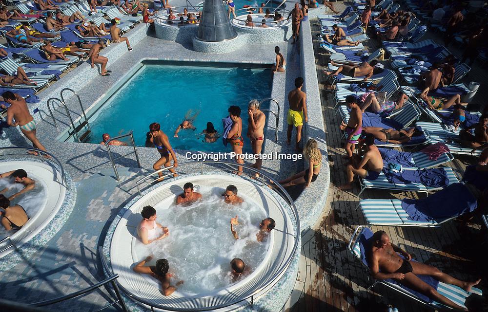 Mediteranean sea . Cruise on Costa Victoria boat in   / Croisiere sur paquebot le costa Victoria en mediteranee,    Mediteranee