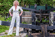 Anthea Turner on the Welcome to Yorkshire Garde  Designed by, Mark Gregory, Built by Landform Consultants Ltd - Press preview day at The RHS Chelsea Flower Show.