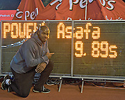 ASAFA POWELL (JAMAICA) WON AND GOT RESULT 9.89 DURING ATHLETICS MEETING PEDRO'S CUP IN SZCZECIN, POLAND..SZCZECIN , POLAND , SEPTEMBER 17, 2008..( PHOTO BY ADAM NURKIEWICZ / MEDIASPORT )..PICTURE ALSO AVAIBLE IN RAW OR TIFF FORMAT ON SPECIAL REQUEST.