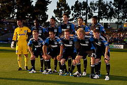 July 20, 2011; Santa Clara, CA, USA;  The San Jose Earthquakes are introduced before the game against the Vancouver Whitecaps at Buck Shaw Stadium. San Jose and Vancouver tied 2-2.