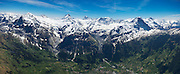 Partial Aerial Panorama of Bernese Alps