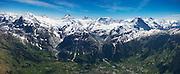 Partial Aerial Panorama of Bernese Alps