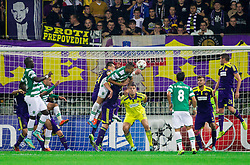 Maurício of Sporting vs Dare Vrsic of Maribor during football match between NK Maribor and Sporting Lisbon (POR) in Group G of Group Stage of UEFA Champions League 2014/15, on September 17, 2014 in Stadium Ljudski vrt, Maribor, Slovenia. Photo by Vid Ponikvar  / Sportida.com