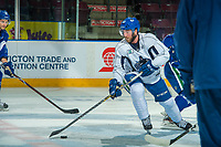 PENTICTON, CANADA - SEPTEMBER 9: Aaron Berisha #65 of Vancouver Canucks skates with the puck during morning ice on September 9, 2017 at the South Okanagan Event Centre in Penticton, British Columbia, Canada.  (Photo by Marissa Baecker/Shoot the Breeze)  *** Local Caption ***