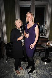 GILLY MACWOOD and NAOMI HANCOCK at a dinner hosted by Ruinart in honour of Amanda Wakely at The Connaught, Carlos Place, London on 20th October 2010.