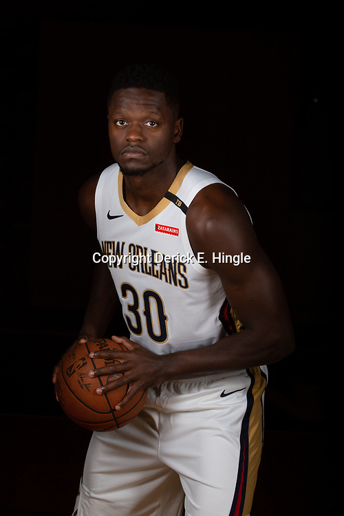 Sep 24, 2018; New Orleans, LA, USA; New Orleans Pelicans forward Julius Randle (30) poses for a portrait during Media Day at Ochsner Performance Center. Mandatory Credit: Derick E. Hingle-USA TODAY Sports
