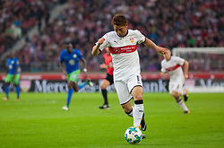 September 16, 2017 - Stuttgart, Germany - Stuttgarts Takuma Asano initiates a counter / Bundesliga match VfB Stuttgart vs VfL Wolfsburg, September 16, 2017. (Credit Image: © Bartek Langer/NurPhoto via ZUMA Press)