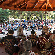 Gamelan Sari Raras perform gamelan music and works by Lou Harrison at Libbey Park Gazebo on June 7, 2013 in Ojai, California.