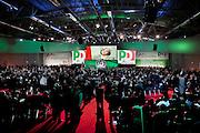 ROMA. IL PADIGLIONE DELLA FIERA DI ROMA OSPITANTE  L'ASSEMBLEA NAZIONALE DEL PARTITO DEMOCRATICO
