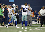 Dallas Cowboys wide receiver Dez Bryant (88) complains about a pass interference call that was reversed by officials after the call during the NFL week 18 NFC Wild Card postseason football game against the Detroit Lions on Sunday, Jan. 4, 2015 in Arlington, Texas. The Cowboys won the game 24-20. ©Paul Anthony Spinelli