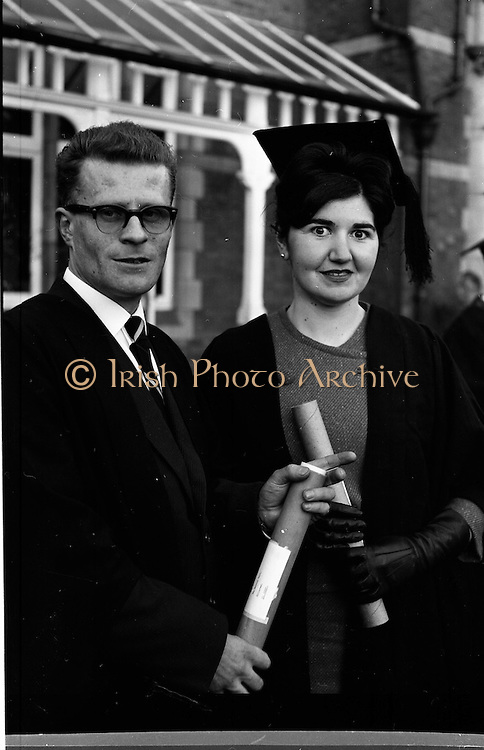 05/12/1961<br /> 12/05/1961<br /> 05 December 1961<br /> Conferring Day at the Pharmaceutical Society of Ireland, 18 Shrewsbury Road Dublin. Picture shows two of the graduates.