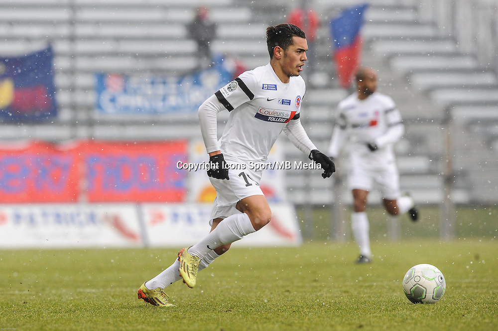 Hamza SAKHI - 24.01.2015 - Clermont / Chateauroux  - 21eme journee de Ligue2<br />