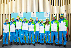 Ski jumping team during presentation of Slovenian Young Athletes before departure to EYOF (European Youth Olympic Festival) in Vorarlberg and Liechtenstein, on January 21, 2015 in Bled, Slovenia. Photo by Vid Ponikvar / Sportida