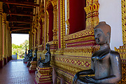 View  of a temple/wat, Vientiane, Laos.