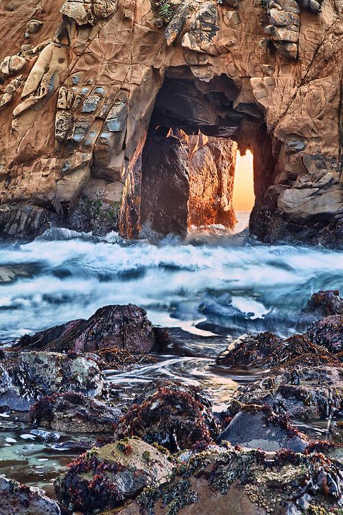 Golden Door Rolling Wave - Pfeiffer State Beach - Big Sur, CA - HDR