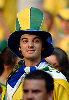 Photo: Richard Lane.<br />England v Brazil. International Friendly. 01/06/2007. <br />Brazil fan.