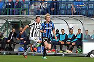 2.7.2014, Veritas Stadion, Turku.<br /> Veikkausliiga 2014.<br /> FC Inter Turku - Turun Palloseura.<br /> Joni Aho (Inter) v Eero Tamminen (TPS).