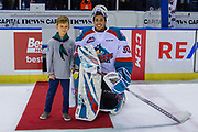 KELOWNA, CANADA - JANUARY 26: First Star of the Game Roman Basran #30 of the Kelowna Rockets at the Kelowna Rockets game on January 26, 2019 at Prospera Place in Kelowna, British Columbia, Canada. (Photo By Cindy Rogers/Nyasa Photography, *** Local Caption ***