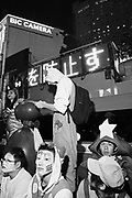 Japan,  Tokyo, 31 October 2016. Halloween in Tokyo, participants gather in front of a Police traffic control van.