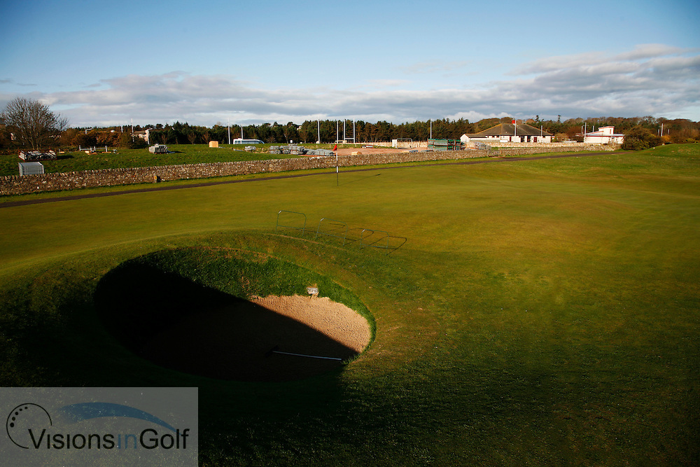 17th Road Hole St. Andrews (old) GC, Scotland UK.<br /> Photo credit:  Mark Newcombe / www.visionsingolf.com