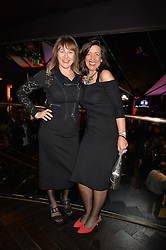 Left to right, writers Jill Dawson and Louise Doughty at the Costa Book of The Year Awards held at Quaglino's, 16 Bury Street, London England. 31 January 2017.