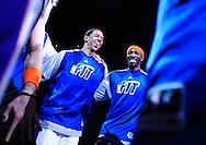 Jan. 7 2011; Phoenix, AZ, USA; Phoenix Suns forward Channing Frye (left) and teammate forward Hakim Warrick react on the court against the New York Knicks at the US Airways Center. The Knicks defeated the Suns 121-96. Mandatory Credit: Jennifer Stewart-US PRESSWIRE.
