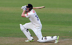 Sussex's Luke Wells drives the ball. - Photo mandatory by-line: Harry Trump/JMP - Mobile: 07966 386802 - 05/07/15 - SPORT - CRICKET - LVCC - County Championship Division One - Somerset v Sussex- The County Ground, Taunton, England.