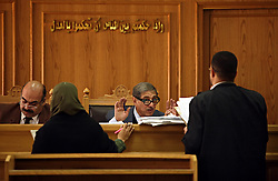 Family Court Appeals Judges Safaak Abaza, right, and Ahmed Abdel Gileel, left, hear cases at the Courthouse of New Cairo Personal Status and Family Courts  in Cairo, Egypt on March 5, 2008. Recently in the Muslim world, the reputation of Shariah law has undergone an extraordinary revival.
