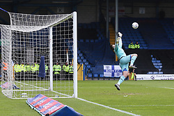 Scott Brown of Port Vale dives as Jordan Rossiter's long range effort flies past him as Bury equalise  - Mandatory by-line: JMP - 04/05/2019 - FOOTBALL - Gigg Lane - Bury, England - Bury v Port Vale - Sky Bet League Two