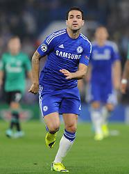 Chelsea's Cesc Fabregas - Photo mandatory by-line: Alex James/JMP - Mobile: 07966 386802 - 17/09/2014 - SPORT - FOOTBALL - London - Stamford Bridge - Chelsea v Schalke 04 - Champions League Group Stage