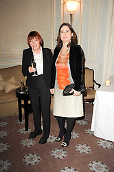 Left to right, MARY QUANT and ALEXANDRA SHULMAN at a dinner hosted by Vogue in honour of photographer David Bailey at Claridge's, Brook Street, London on 11th May 2010.