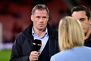 Sky Sports pundit Jamie Carragher before the Premier League match between Bournemouth and Brighton and Hove Albion at the Vitality Stadium, Bournemouth, England on 15 September 2017. Photo by Graham Hunt.