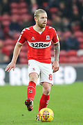 Middlesbrough midfielder Adam Clayton (8) in action during the EFL Sky Bet Championship match between Middlesbrough and Millwall at the Riverside Stadium, Middlesbrough, England on 19 January 2019.