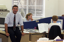 Greg Hadfield, Chairman and Editor-in-Chief of Schoolsnet, August 10, 2000..Photo by Andrew Parsons / i-Images..