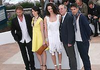 Thomas Kretschmann, Marta Gastini, Asia Argento, Dario Argento, Unax Ugalde at the Dario Argento Dracula film  photocall at the 65th Cannes Film Festival. Saturday 19th May 2012 in Cannes Film Festival, France.