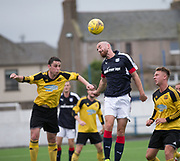 Dundee&rsquo;s James Vincent stretches to try to make contact with a cross  - Cove Rangers v Dundee under 20s pre-seson friendly at Links Park, Montrose, Photo: David Young<br /> <br />  - &copy; David Young - www.davidyoungphoto.co.uk - email: davidyoungphoto@gmail.com