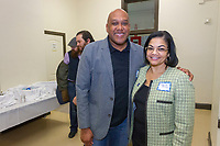 "The Hyde Park Chamber of Commerce held its monthly Chamber Check-In networking event Thursday evening, March 1, 2018 at Saint Thomas the Apostle Church located at 5467 S. Woodlawn. This monthly event hosted by the chamber is held every first Thursday of the month and gives businesses and community members the chance to network and socialize.<br /> <br /> 5501 – Hyde Park Chamber of Commerce members J.L. Jordan the third and Paula Jones pose for a photo.<br /> <br /> Please 'Like' ""Spencer Bibbs Photography"" on Facebook.<br /> <br /> Please leave a review for Spencer Bibbs Photography on Yelp.<br /> <br /> Please check me out on Twitter under Spencer Bibbs Photography.<br /> <br /> All rights to this photo are owned by Spencer Bibbs of Spencer Bibbs Photography and may only be used in any way shape or form, whole or in part with written permission by the owner of the photo, Spencer Bibbs.<br /> <br /> For all of your photography needs, please contact Spencer Bibbs at 773-895-4744. I can also be reached in the following ways:<br /> <br /> Website – www.spbdigitalconcepts.photoshelter.com<br /> <br /> Text - Text ""Spencer Bibbs"" to 72727<br /> <br /> Email – spencerbibbsphotography@yahoo.com"