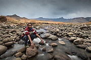 Portrait in the Drakensberg, south africa